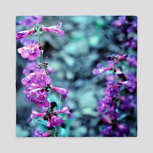 Purple Wildflowers Queen Duvet