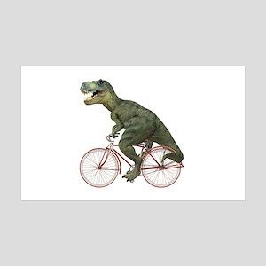 Cycling Tyrannosaurus Rex 38.5 x 24.5 Wall Peel