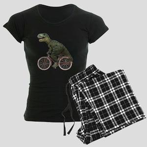 Cycling Tyrannosaurus Rex Women's Dark Pajamas