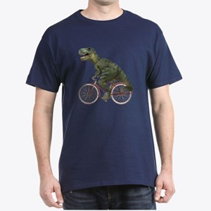 Cycling Tyrannosaurus Rex Dark T-Shirt