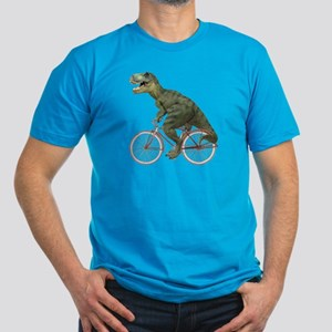 Cycling Tyrannosaurus Rex Men's Fitted T-Shirt (da