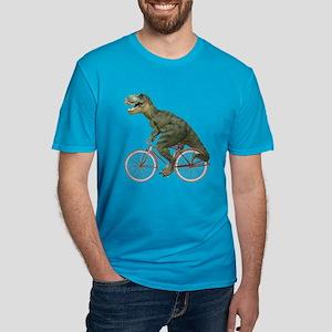 Cycling Tyrannosaurus Rex Men's Fitted T-Shirt (da