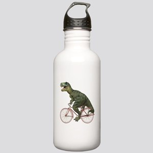 Cycling Tyrannosaurus Rex Stainless Water Bottle 1