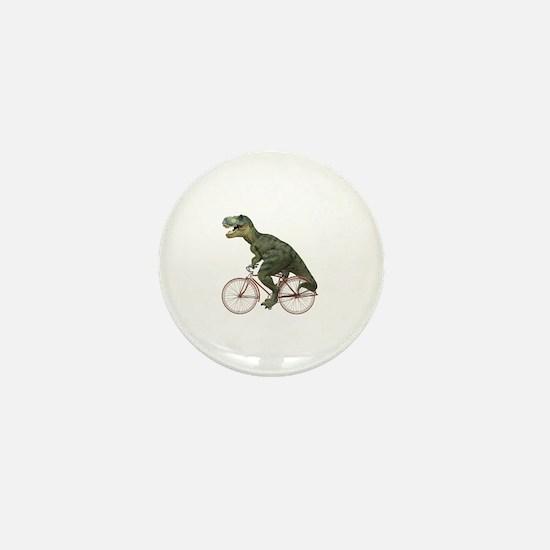 Cycling Tyrannosaurus Rex Mini Button