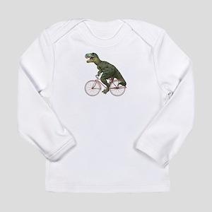 Cycling Tyrannosaurus Rex Long Sleeve Infant T-Shi