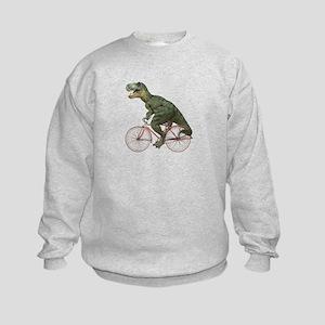 Cycling Tyrannosaurus Rex Kids Sweatshirt