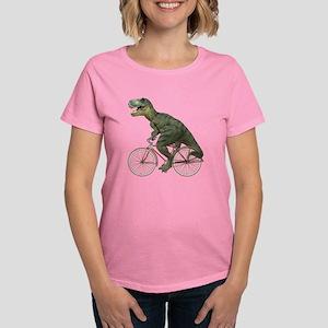 Cycling Tyrannosaurus Rex Women's Dark T-Shirt