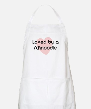 Loved by a Schnoodle BBQ Apron
