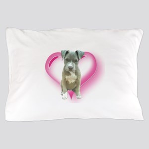 Pitbull puppy Pillow Case