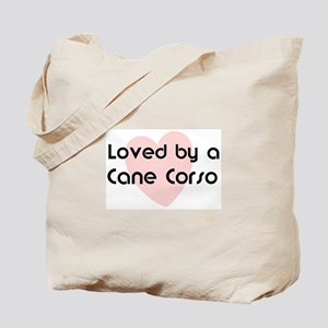 Loved by a Cane Corso Tote Bag