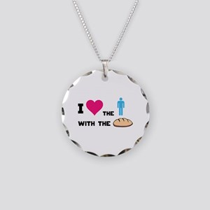 HG The boy with the bread Necklace Circle Charm