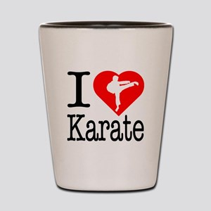 I Love Karate Shot Glass