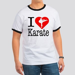 I Love Karate Ringer T