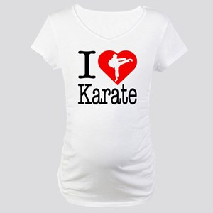 I Love Karate Maternity T-Shirt