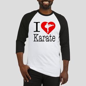 I Love Karate Baseball Jersey