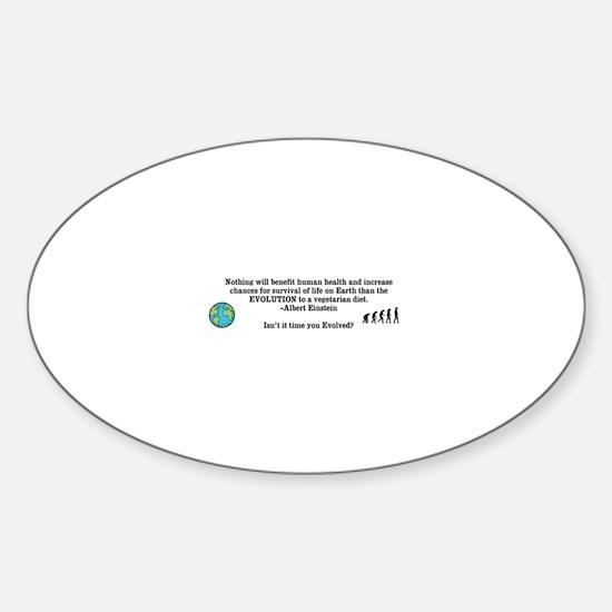 Vegetarian Evolution Sticker (Oval)