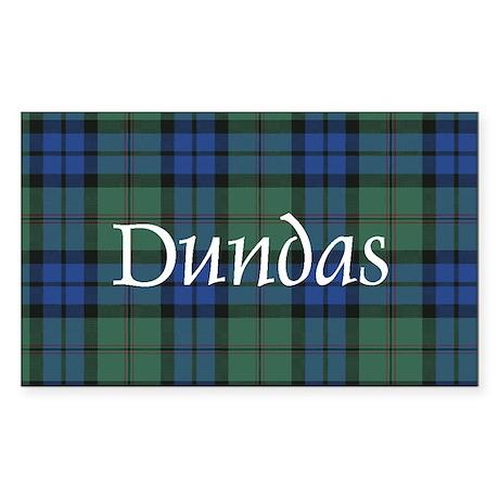 Tartan - Dundas Sticker (Rectangle)