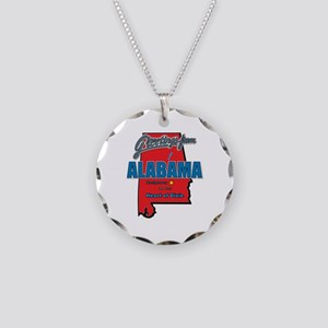 Greetings From Alabama Necklace Circle Charm