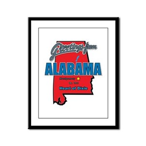 Greetings From Alabama Framed Panel Print