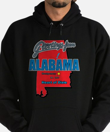 Greetings From Alabama Hoodie (dark)