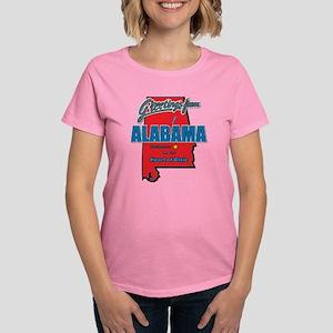 Greetings From Alabama Women's Dark T-Shirt