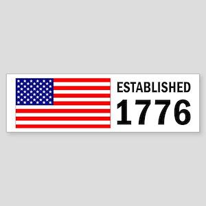 Bumper Sticker - Established 1776