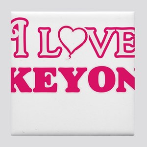 I Love Keyon Tile Coaster