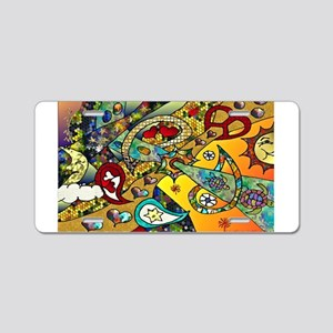 Psychedelic Cycle Of Life Aluminum License Plate