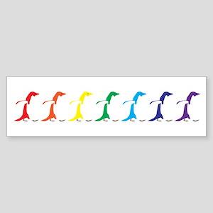 Rainbow Penguins Sticker (Bumper)
