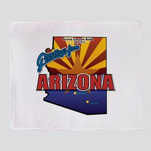 Greetings From Arizona Throw Blanket