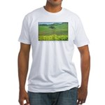 Mustard Covered Hills Fitted T-Shirt