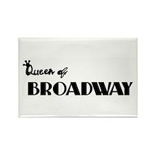 Queen of Broadway Rectangle Magnet