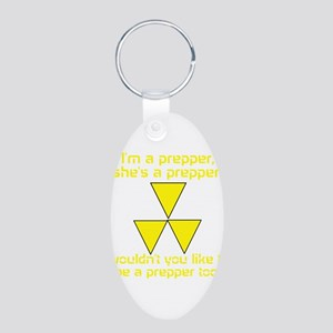 BE A PREPPER Aluminum Oval Keychain