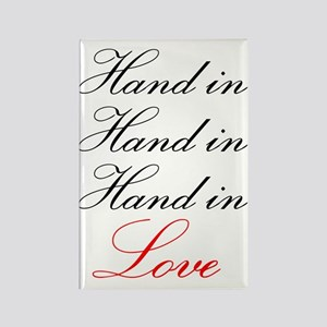 hand in hand in hand in love Rectangle Magnet