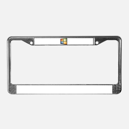 Cute Windows License Plate Frame