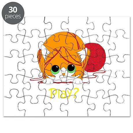 Kitten Play (for dark clothin Puzzle