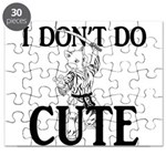 I Don't Do Cute - Cat Puzzle