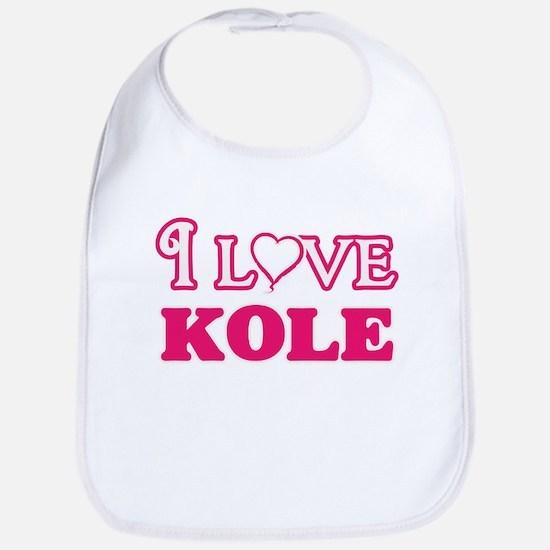 I Love Kole Baby Bib