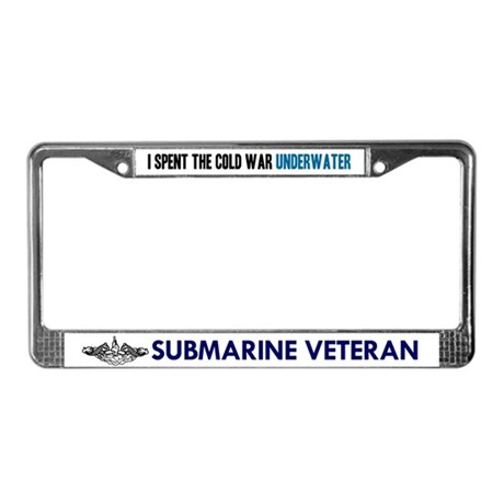 I Spent the Cold War Underwat License Plate Frame