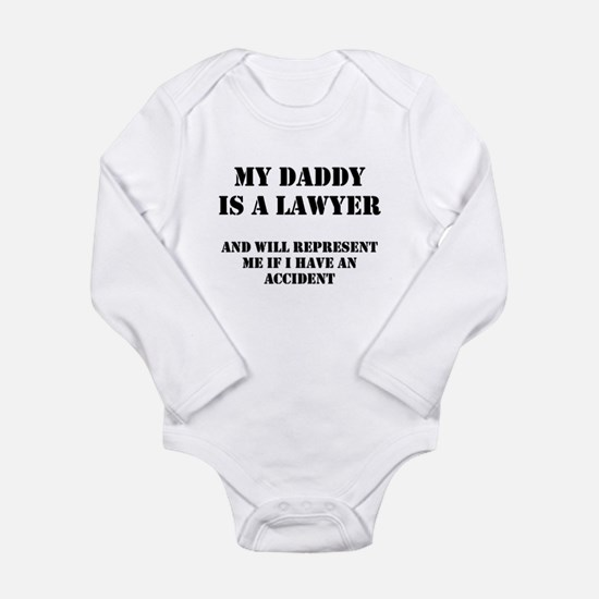 Daddy Is A Lawyer 1 Long Sleeve Infant Bodysuit
