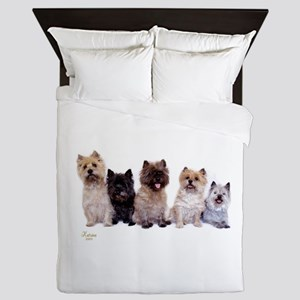 Cairn Terriers Queen Duvet