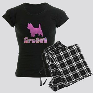 Groovy Cairn Terrier Women's Dark Pajamas
