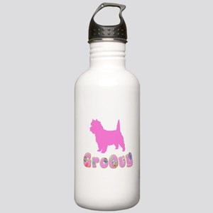 Groovy Cairn Terrier Stainless Water Bottle 1.0L
