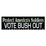 Protect America's Soldiers Bumpersticker