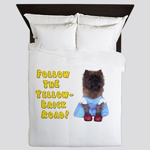 Cairn Terrier Oz Yellow Brick Road Queen Duvet