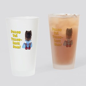Cairn Terrier Oz Yellow Brick Road Drinking Glass