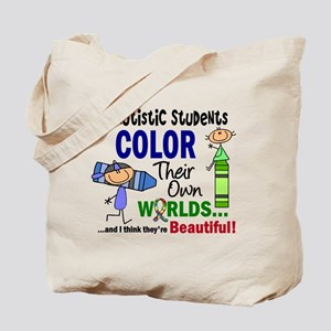 Colors Own World Autism Tote Bag