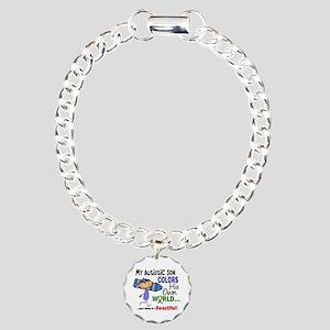 Colors Own World Autism Charm Bracelet, One Charm