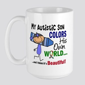 Colors Own World Autism Large Mug