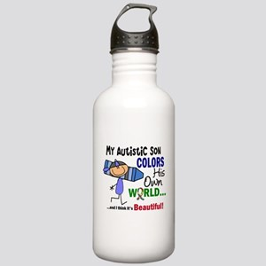 Colors Own World Autism Stainless Water Bottle 1.0